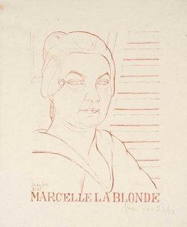 Marcelle la blonde by Juan Gris