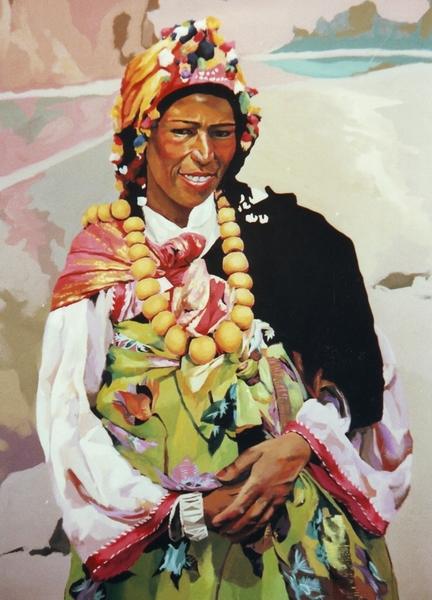 berber women original art by leopoldo fern225ndez picassomio