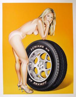 Tyra Tyre by Mel Ramos