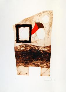 Imatges i Terra IV by Josep Mª Guinovart