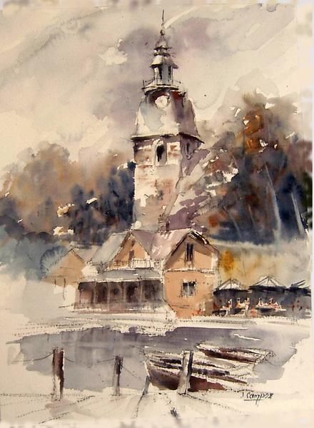Finnish village by Juan Félix Campos