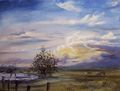 Sunset at the ranch by Rosario de Mattos