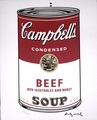 Andy Warhol Campbell's Soup Beef limited signed edition by Andy Warhol