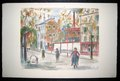 Walkers on a street in Paris de Maurice Utrillo