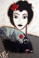 Dama com Albanico by Manolo Valdés