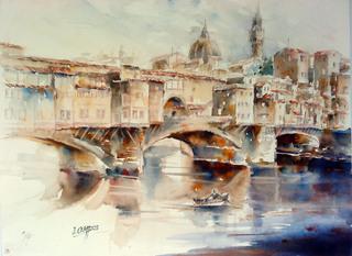 Ponte Vecchio-Florence by Juan Félix Campos