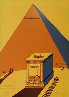 W. Churchill, Napoleone e Saul Steinberg all ´ombra delle Piramidi a Mezzogiorno by Eduardo Arroyo
