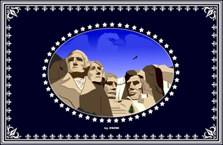 "United States of America ""The Presidents"" banner (size XXXXL) by PACHI"