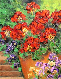 My Geraniums by Anna Good