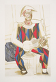 Arlequin à la Guitare by Picasso Estate Collection
