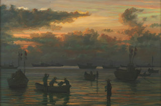 Getting Ready for the Fishing trip, Vietnam by Pip Todd Warmoth