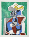 Buste au Chapeau Jaune et Gris by Picasso Estate Collection