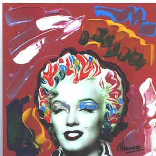POP Marilyn grafitti EYE CANDY by Marco Mark