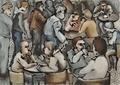 Café Crowd by Hilary Senhanli