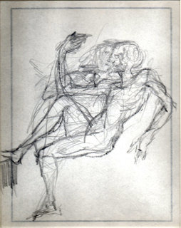 Etude de couple assis by Salvador Dalí