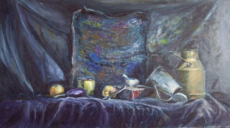 Still Life in Blue by Rosario de Mattos