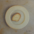 Plate with bread by Tomasa Martin