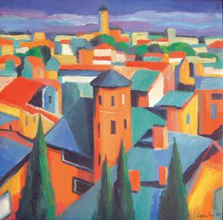 Toits à Lyon by Guillermo Martí Ceballos