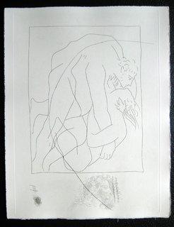 Lutte entre Teree et sa Belle-Soeur Philomele (3rd plate) by Pablo Picasso