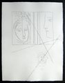 Profil et tete de femme by Pablo Picasso