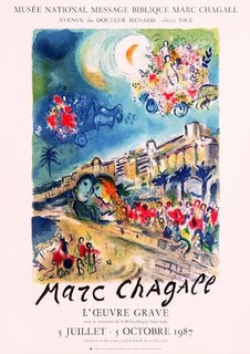 Battle of flowers by Marc Chagall