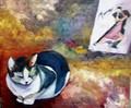 gato bailando tango by MONTSE PARÉS FARRÉ