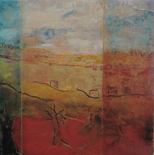 Seeking Peace - encaustic with oil by Nella Lush