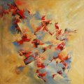 Vanishing, oil on canvas, signed by Lidia Solanot