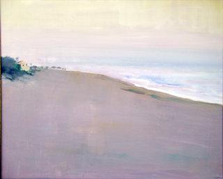 Sunset at the beach by María Mora Ramirez