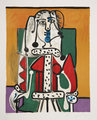 Femme Assise à la Robe d' Hermine by Picasso Estate Collection