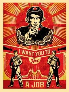 Get a Job by Shepard Fairey