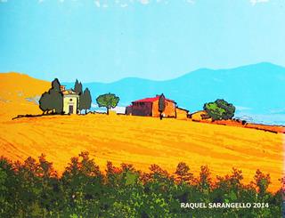 TUSCANY ITALY ART PAINTING Raquel Sarangello by Raquel Sara Sarangello