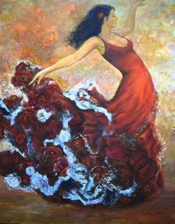 Flamenco 1 by Sylva Zalmanson