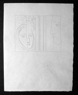 Profile et tete de femme by Pablo Picasso