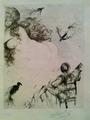 el guitarrista y la dama by Salvador Dalí