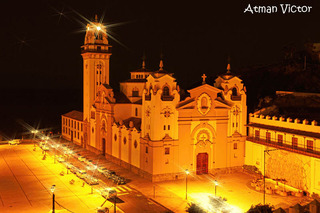 Candelaria church at night by Jose Luis Mendez Fernandez