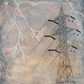 Tower and storm by Brigitte Bidard