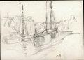 Bateau au port by Camille Pissarro