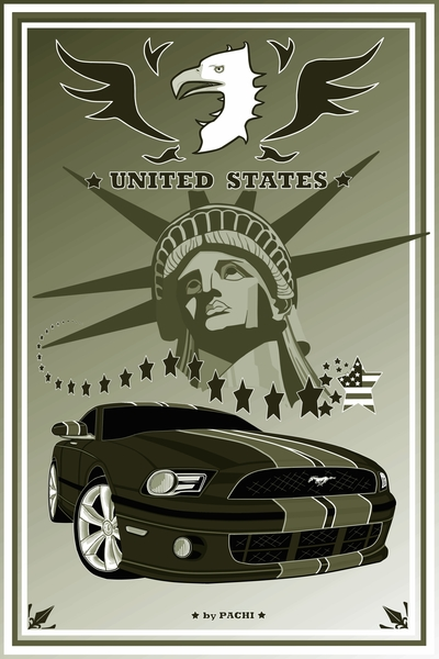 United States of America banner (size XXXL) by PACHI