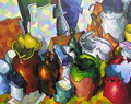 Botellas y vasijas. by José Sanz Sala