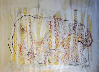 Painted Pachyderm by Richard Allen