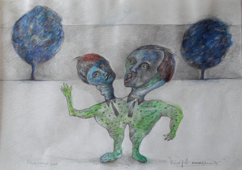 Bicephalous masked by Ricardo Hirschfeldt