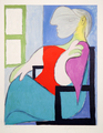 Femme Assise Près d'une Fenêtre by Picasso Estate Collection