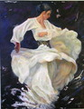 Flamenco in white by Sylva Zalmanson