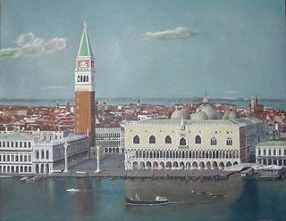 Venice from the dock of St. Marcos by Gustavo López-Cobo