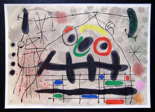 Le Lezard aux plumes D'or - Maeght 529 by Joan Miró