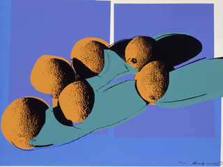 Space Fruit Still Life – Cantaloupes I by Andy Warhol