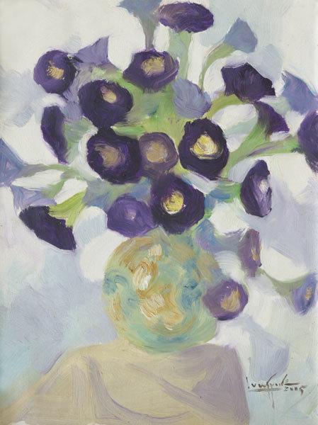 Purple Flowers by U Lun Gywe