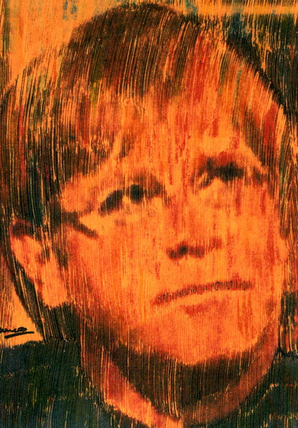 Elton John at Princess Diana funeral service series Orange by Marco Mark
