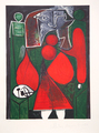 Femme en Rouge sur Fauteuil by Picasso Estate Collection